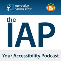 """logo """"The IAP Your Accessibility Podcast"""""""